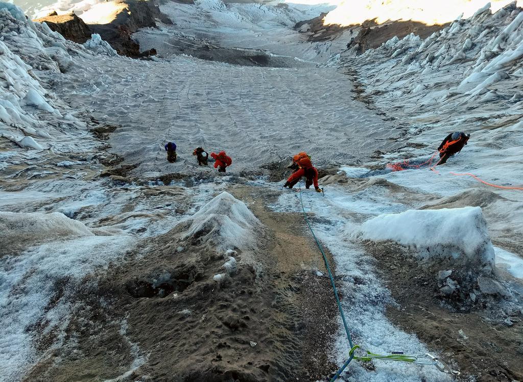 Making progress on the second step of Kautz heading toward a Crevasse minefield