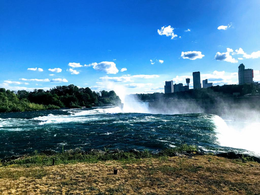 Looking across the falls to Canada