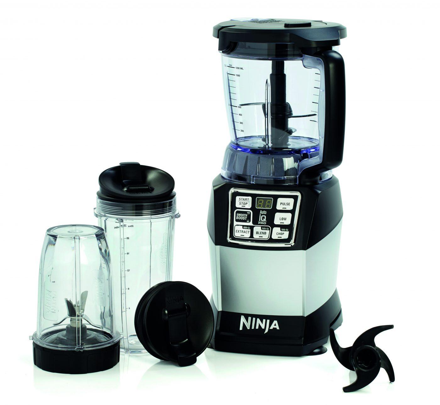 Ninja Compact Food Processor with Auto-iQ and Nutri Ninja 1200W – BL490UK