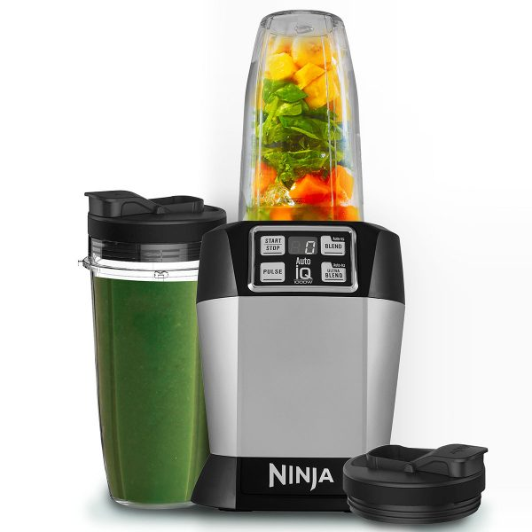 Image of Nutri Ninja Blender & Smoothie Maker with Auto-iQ 1000W – BL480UK – Silver