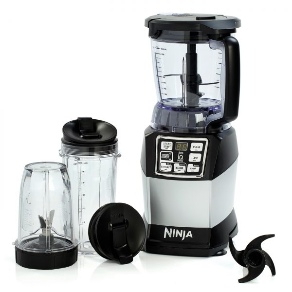 Ninja Compact Food Processor with Auto-iQ and Nutri Ninja 1200W – BL490UK
