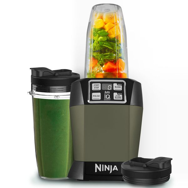 Image of Nutri Ninja Blender & Smoothie Maker with Auto-iQ 1000W – BL480UKSA – Sage