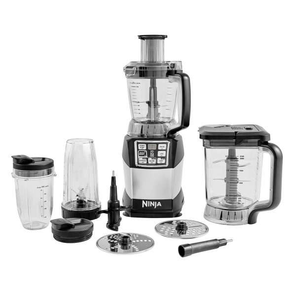 Ninja Compact Food Processor with Auto-iQ and Nutri Ninja 1200W – BL490UK2