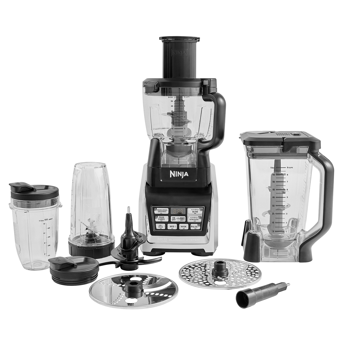 ninja complete food processor with auto-iq and nutri ninja 1500w