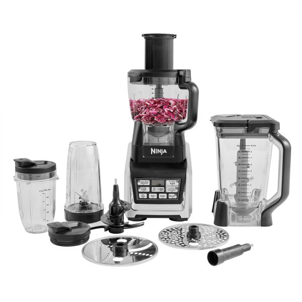 Ninja Complete Food Processor with Auto-iQ and Nutri Ninja 1500W – BL682UK2