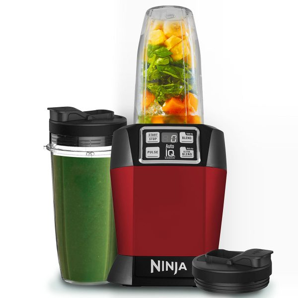 Image of Nutri Ninja Blender & Smoothie Maker with Auto-iQ 1000W – BL480UKMR – Red