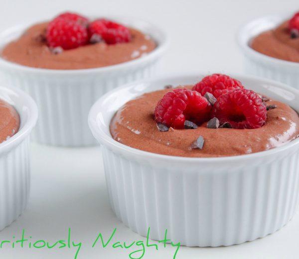 Chocolate & Raspberry Mousse Pots