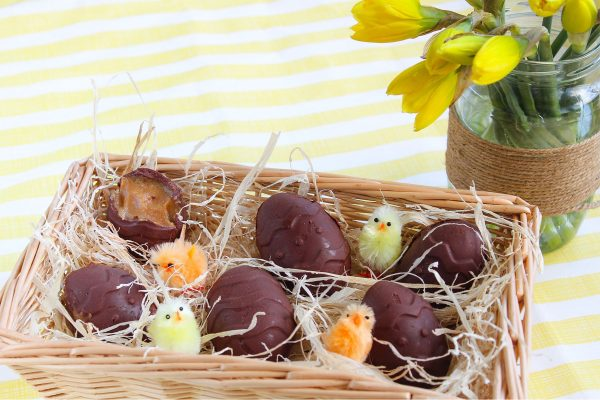 Peanut Butter Caramel Filled Easter Eggs