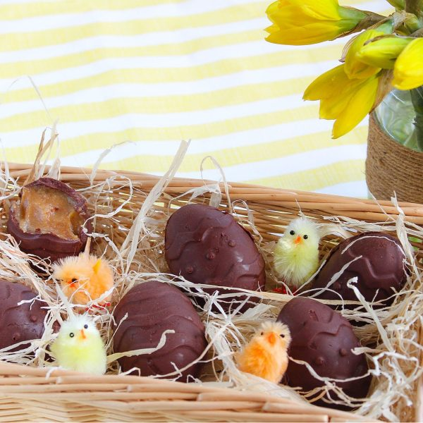 Peanut Butter Caramel Filled Easter Eggs
