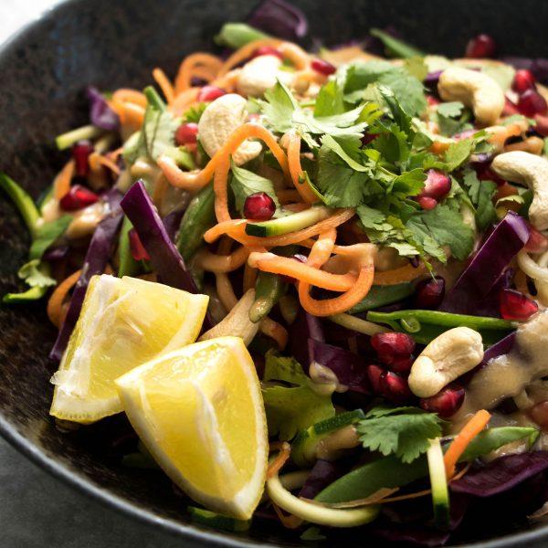 Cashew satay noodle salad