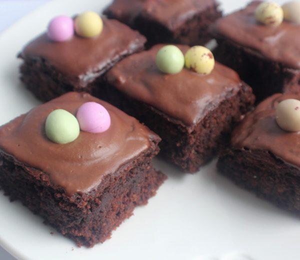 Not-So-Naughty Mini Egg Brownies