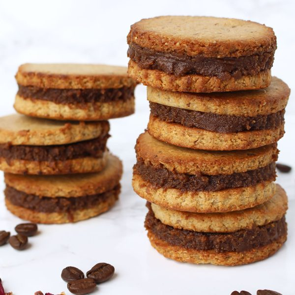 Coffee & Vanilla Sandwich Cookies