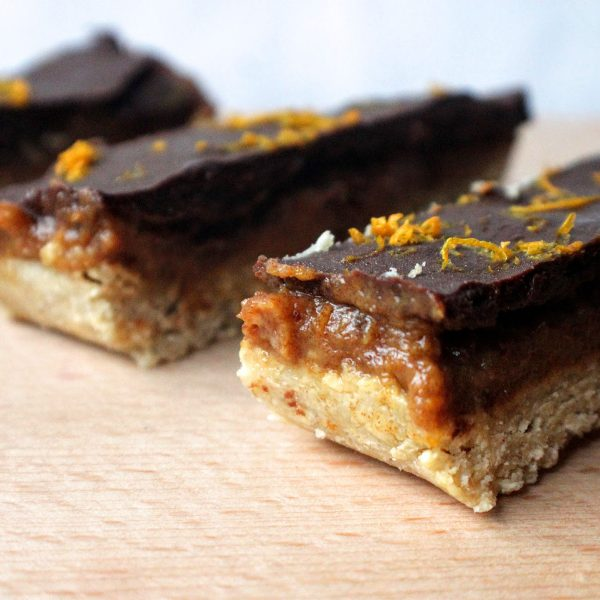 No-Bake Chocolate Orange & Caramel Slice