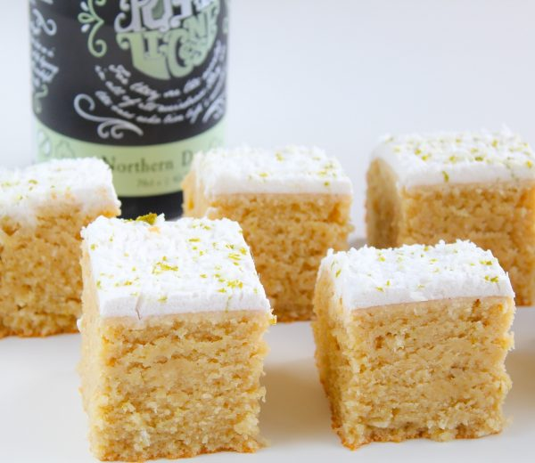 Gin, Lime & Coconut Cake Squares