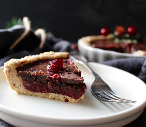 No Bake Cranberry And Chocolate Tart
