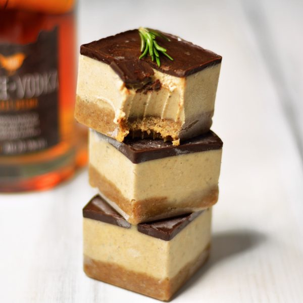 Toffee Vodka, Gingerbread, and Rosemary Slices