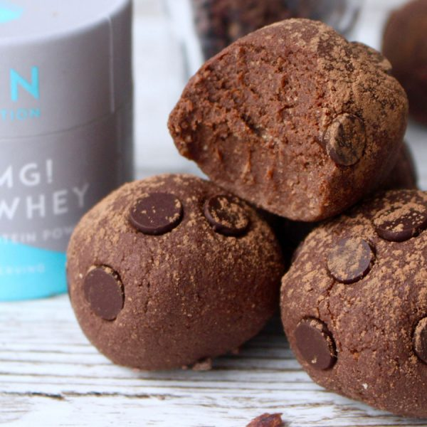 'Death By Chocolate' Protein Brownie Bites