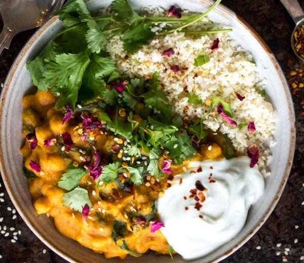 Vegan Squash & Chickpea Curry