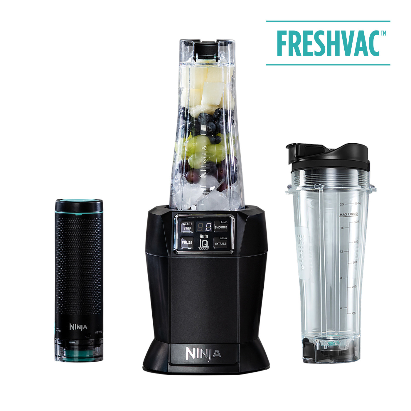Nutri Ninja 1000W Personal Blender & Smoothie Maker with FreshVac Technology BL580UKV