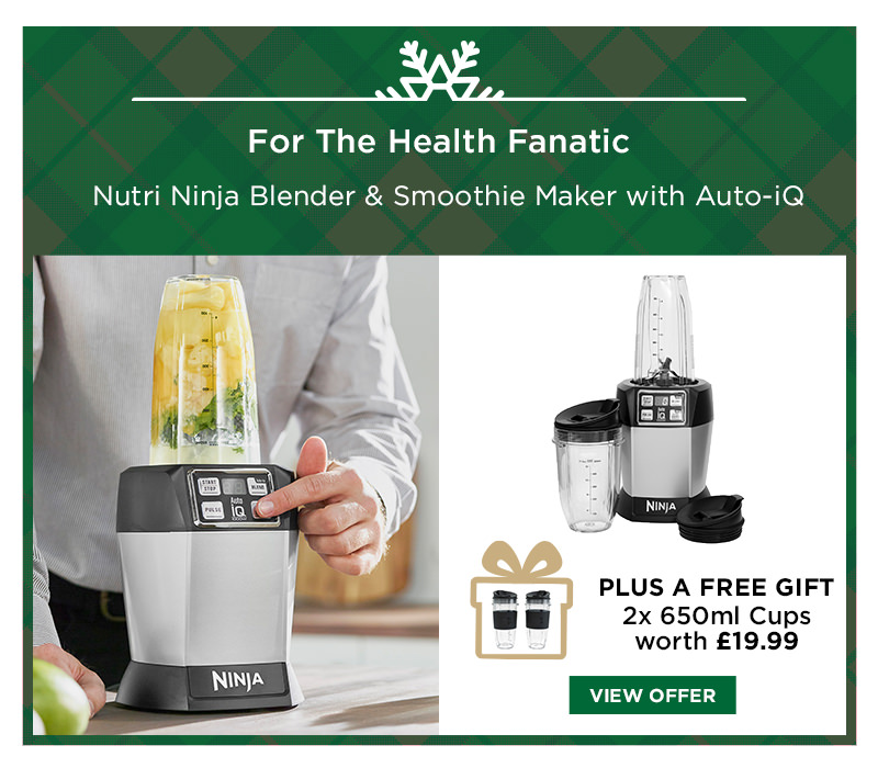 Nutri Ninja Blender & Smoothie Maker with Auto-iQ BL480UK