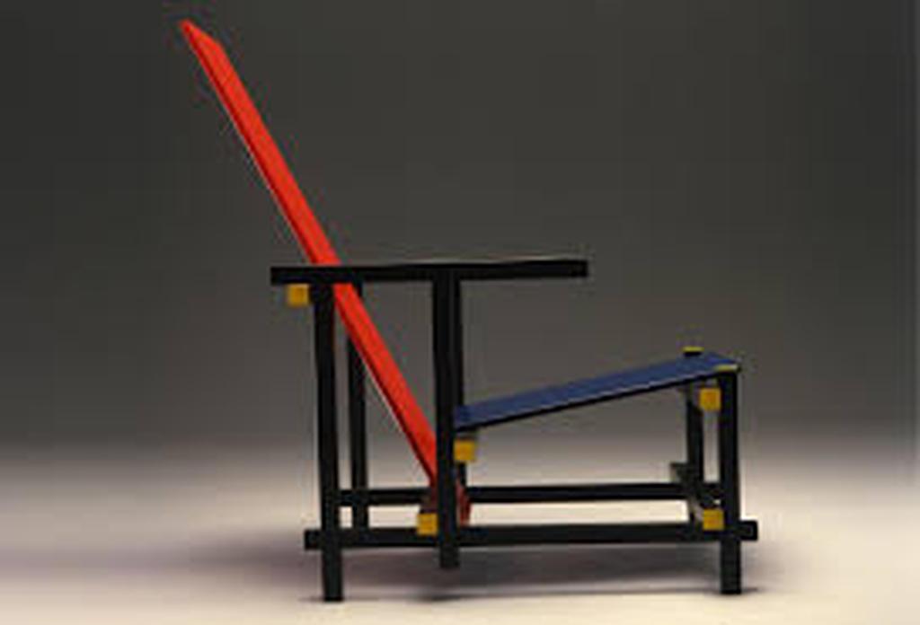 Stoel Gerrit Rietveld : Gerrit rietveld: exacte replica van de rood blauwe stoel verkocht
