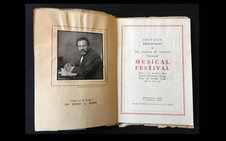 Opening spread of the 1930 Festival Souvenir Brochure