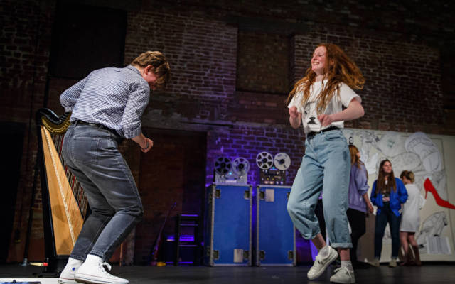 Photo from NNF16 show Wild Life, two people dance on stage.