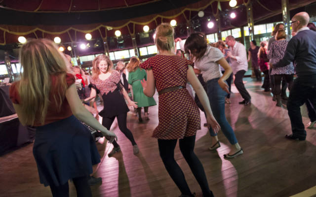 People dancing at the Ragroof Tea Dance.