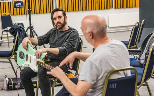 Matt Calvert and Jan Bang in rehearsals for their new soundtrack for Battleship Potemkin, Opera North, September 2017