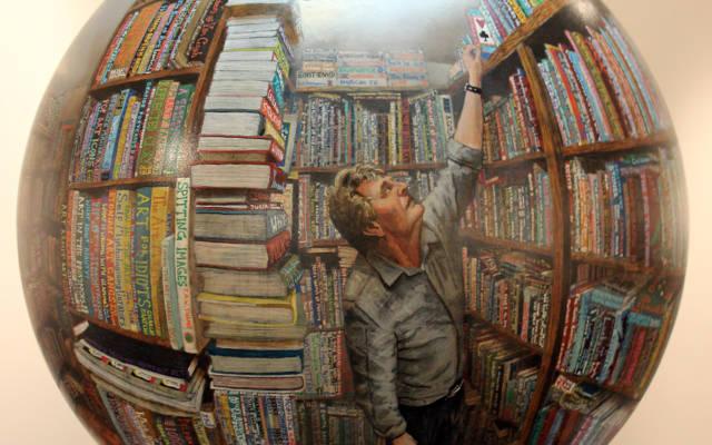 The-Dormouse-Bookshop-Acrylic-on-sphere-60cm-diameter-2015