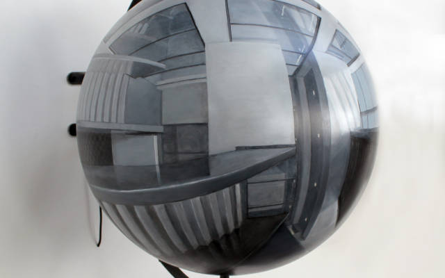 Guntons-Acrylic-on-sphere-by-will-teather