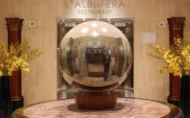 Melia-Whitehouse-Painted-sphere-60cm-diameter-Installed-in-situ1