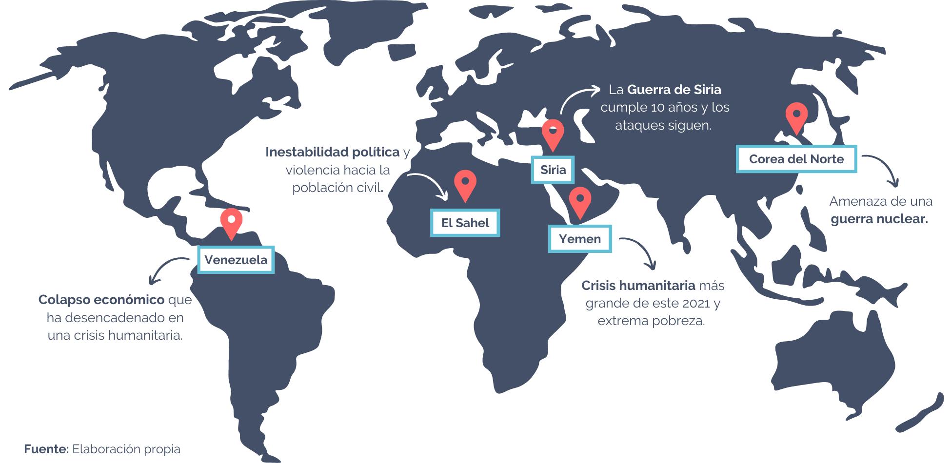 Mapa conflictos 2021