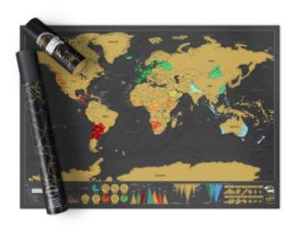 Scratch Map World Deluxe Xl
