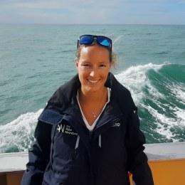 Foto Renate Olie op zee