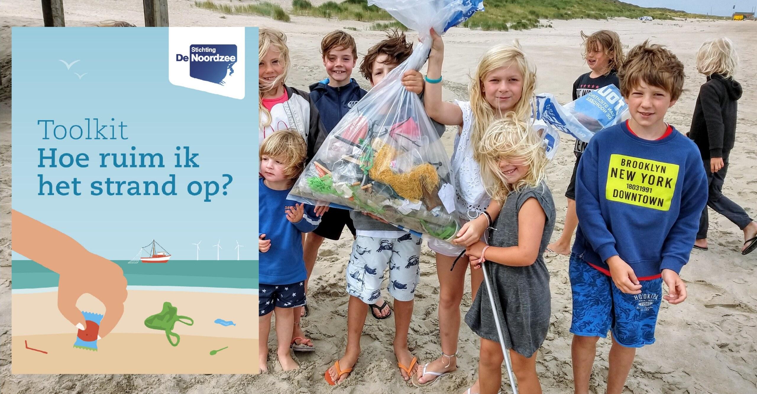 Kinderen op Vlieland tijdens Beach Cleanup Tour 2019