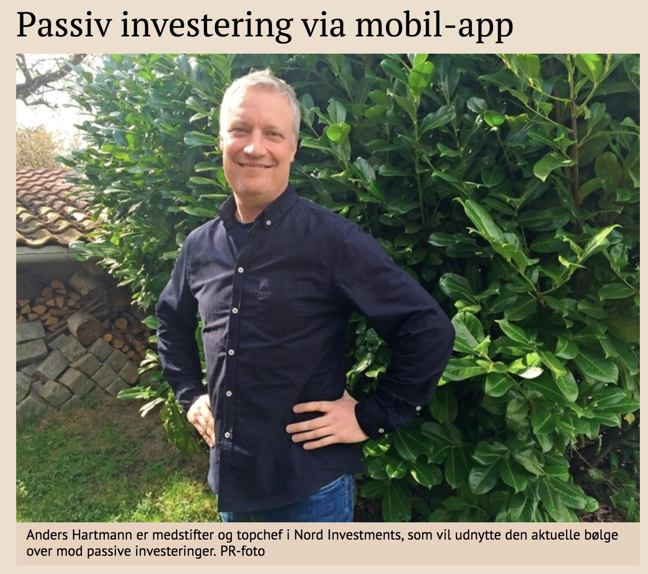 Passiv investering via mobil-app