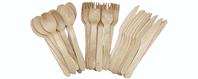 wood plastic knife fork spoon