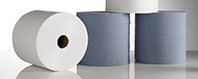 Centre Feed Centre pull towel wiper roll blue roll