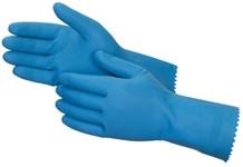 Gloves, Rubber, Premier, Blue, 12 Pairs