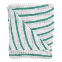 Dishcloths, Stockinette, Large, (Green Stripe) 10 Cloths