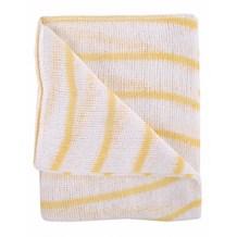 Dishcloths, Stockinette, Large, (Yellow Stripe) 10 Cloths