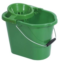 Bucket, Mop, Plastic, Value, 12Ltr, Green