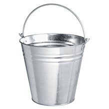 Bucket, Galvanised Metal Pail, 12Ltr