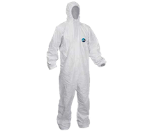 Safety Wear, Coveralls, Tyvek Classic, White, XL, 1 x 25