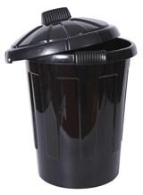 Bin, Dustbin, Plastic, Black, 80Ltr