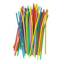 "Bar Supp. Straws, Coloured/Striped, Bendy, 6mm, 20cm/8"", 250"