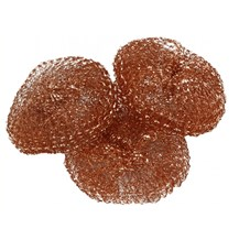 Scouring Pads, Copper, 25 Scourers