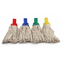 Mop Heads, Socket, Green, PY Excel 200, 2 Pack