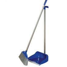Dust Pan & Brush Set, Long Handle